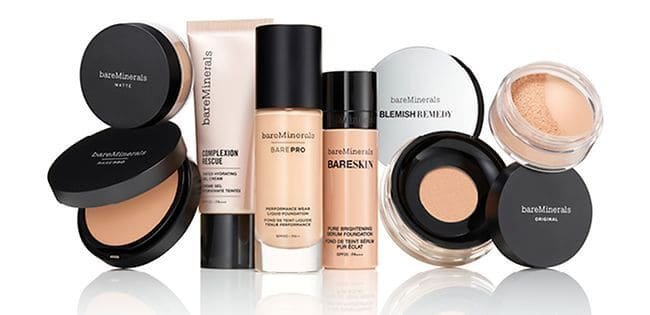 Bare Minerals Vegan Friendly Products